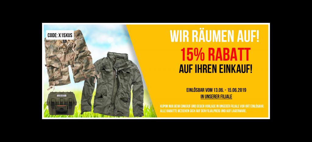 BEENDET: 15% Rabatt auf Ihren Einkauf!