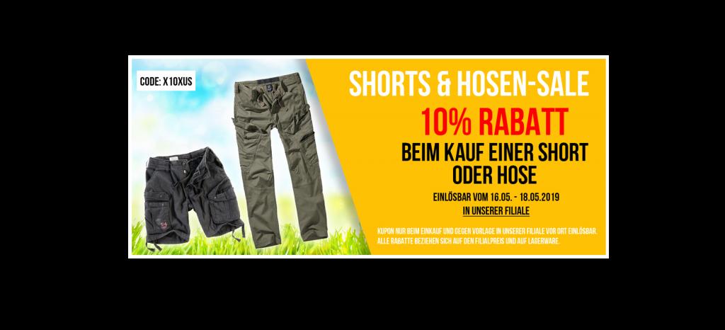 BEENDET: Shorts & Hosen 10% reduziert!