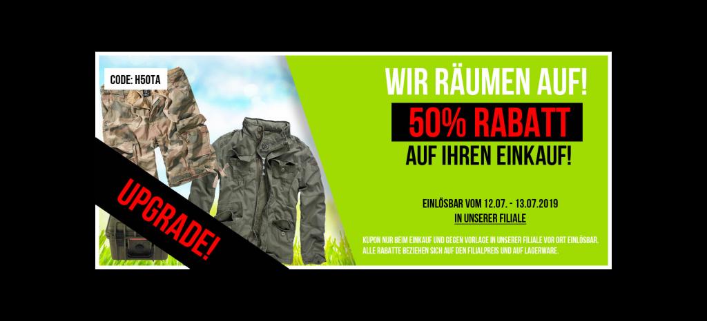 BEENDET: 50% Rabatt auf Ihren Einkauf!
