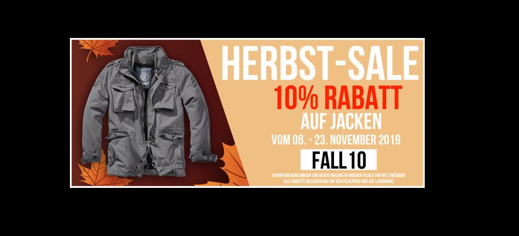 BEENDET: 10% Rabatt beim Kauf einer Jacke!